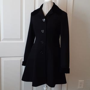 Betsey Johnson Wool Trench Coat